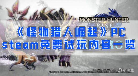 《怪物猎人崛起》PC版STEAM版今日上线demo!插图